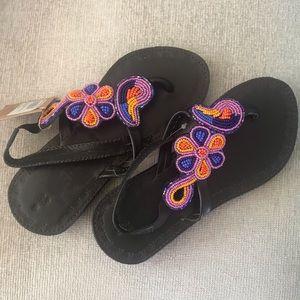 Other - Maasai beaded sandals (girls)